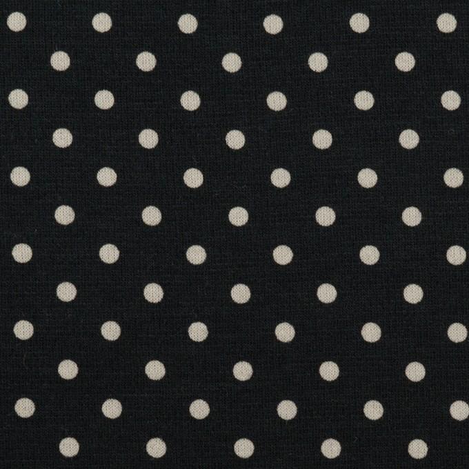 コットン×ドット(ブルーブラック&アイボリー)×スムースニット_全2色 イメージ1