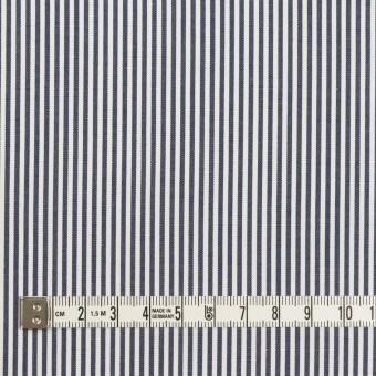 コットン×ストライプ(アッシュネイビー)×ブロード サムネイル4