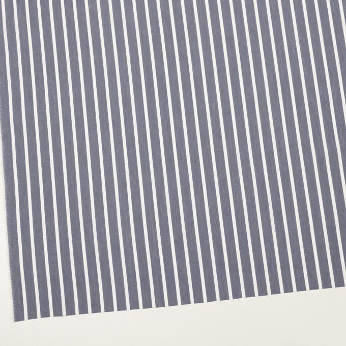 コットン&ポリエステル×ストライプ(アッシュネイビー)×ブロード イメージ2