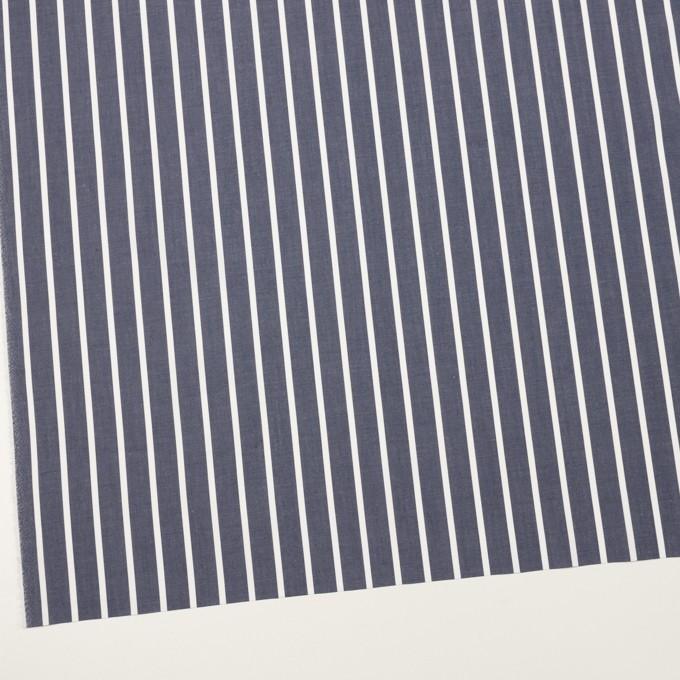 コットン×ストライプ(アッシュネイビー)×ローン イメージ2