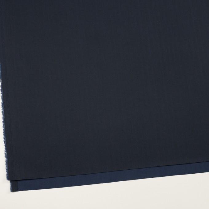 コットン&ポリウレタン×無地(ダークネイビー)×ヘリンボーン・ストレッチ イメージ2