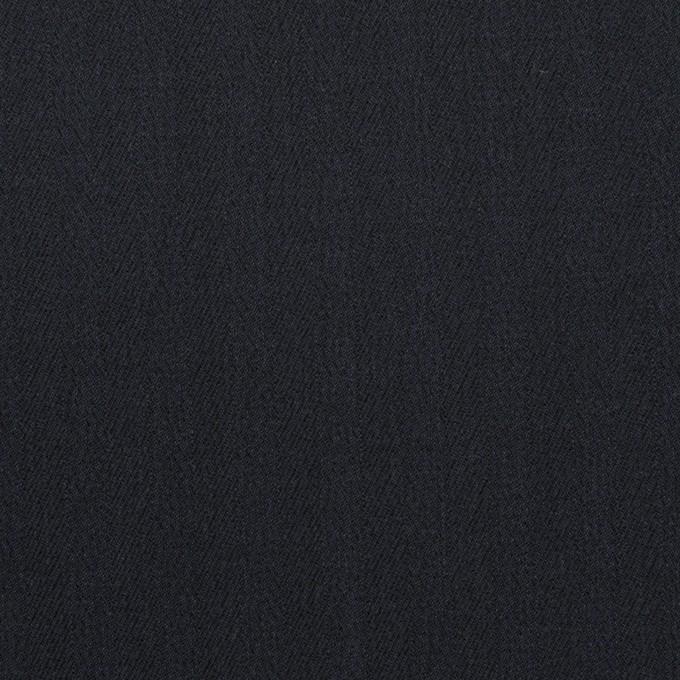 コットン&ポリウレタン×無地(ダークネイビー)×ヘリンボーン・ストレッチ イメージ1