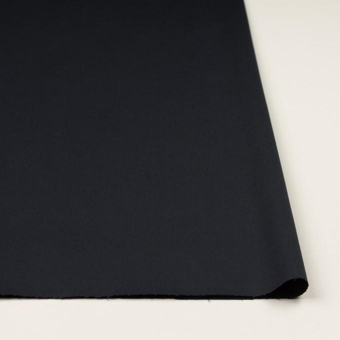 コットン&ポリウレタン×無地(ダークネイビー)×サージストレッチ イメージ3