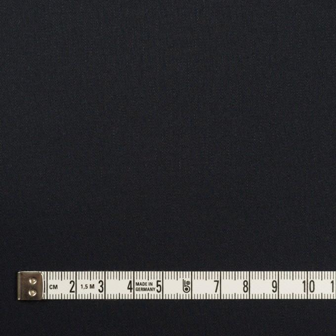 コットン&ポリウレタン×無地(ダークネイビー)×サージストレッチ イメージ4