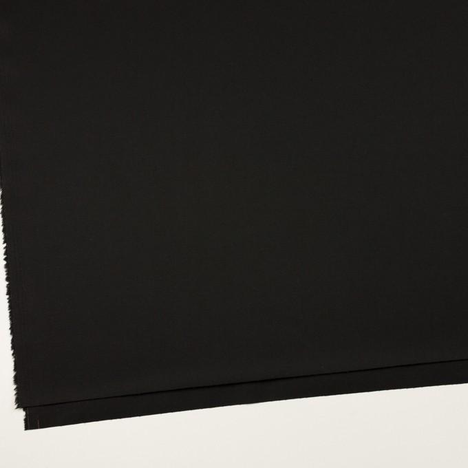 コットン&ポリウレタン×無地(ブラック)×サージストレッチ イメージ2