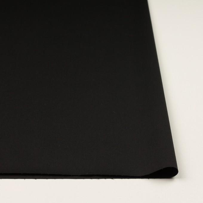 コットン&ポリウレタン×無地(ブラック)×サージストレッチ イメージ3