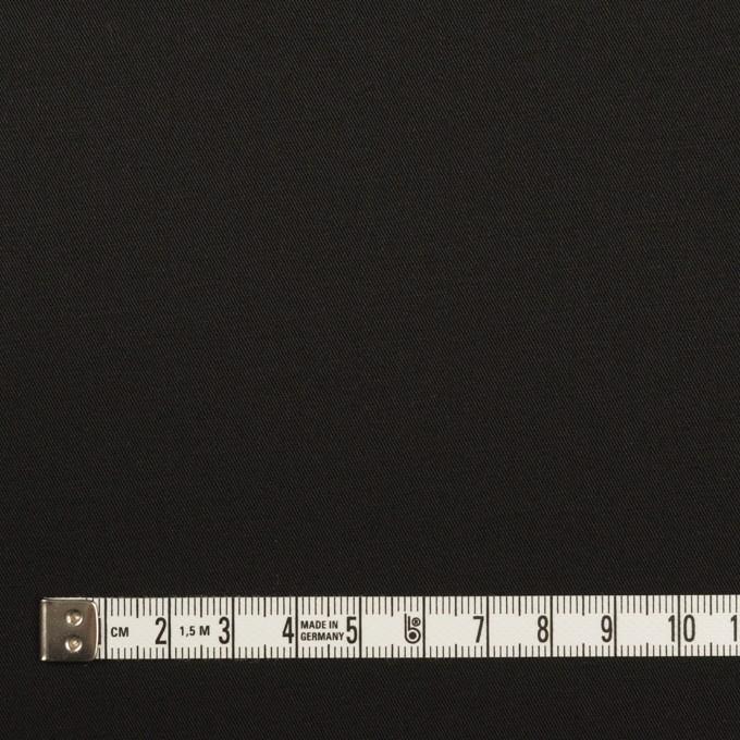 コットン&ポリウレタン×無地(ブラック)×サージストレッチ イメージ4
