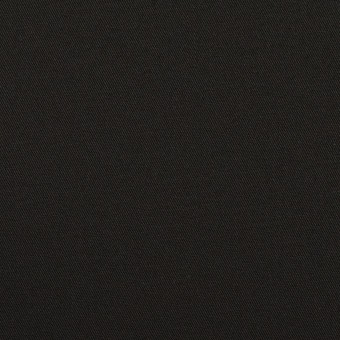 コットン&ポリウレタン×無地(ブラック)×サージストレッチ