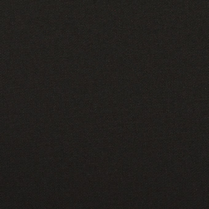 コットン&ポリウレタン×無地(ブラック)×サージストレッチ イメージ1