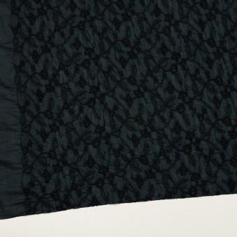 コットン×フラワー(インクブルー&ブラック)×ボイルシャーリング刺繍_全2色 サムネイル2