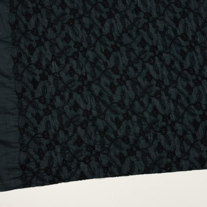 コットン×フラワー(インクブルー&ブラック)×ボイルシャーリング刺繍_全2色 イメージ2