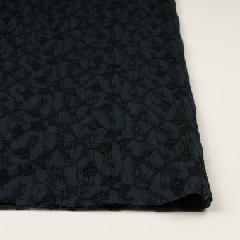 コットン×フラワー(インクブルー&ブラック)×ボイルシャーリング刺繍_全2色 サムネイル3