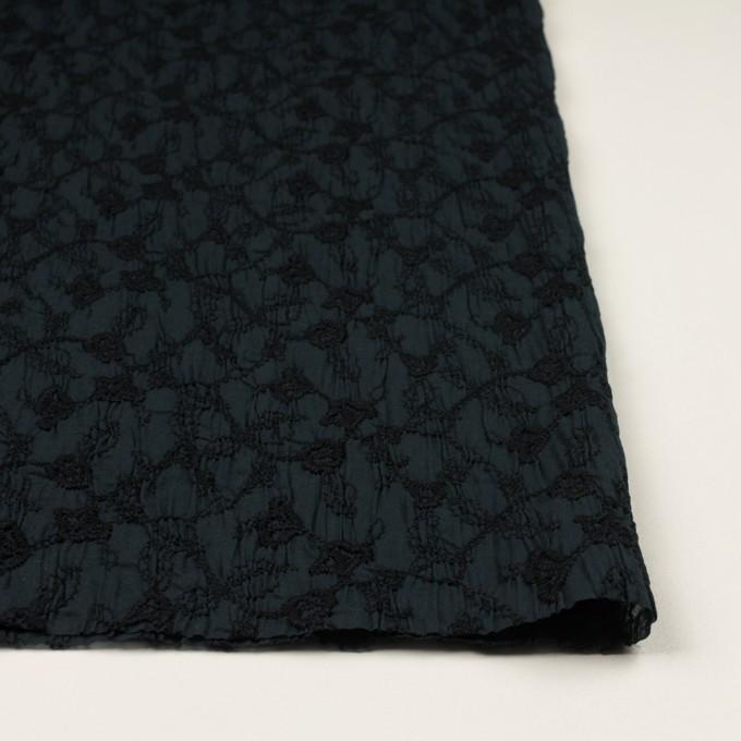 コットン×フラワー(インクブルー&ブラック)×ボイルシャーリング刺繍_全2色 イメージ3