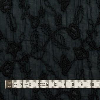 コットン×フラワー(インクブルー&ブラック)×ボイルシャーリング刺繍_全2色 サムネイル4