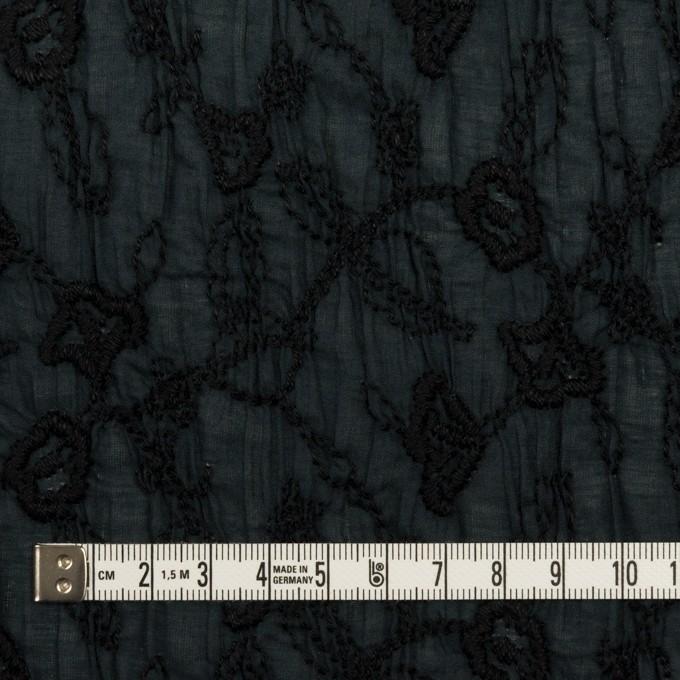 コットン×フラワー(インクブルー&ブラック)×ボイルシャーリング刺繍_全2色 イメージ4