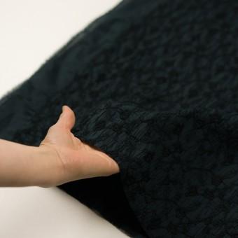 コットン×フラワー(インクブルー&ブラック)×ボイルシャーリング刺繍_全2色 サムネイル5
