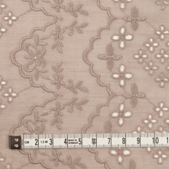 コットン×フラワー(アンティークローズ)×スラブボイル刺繍_全2色 サムネイル4