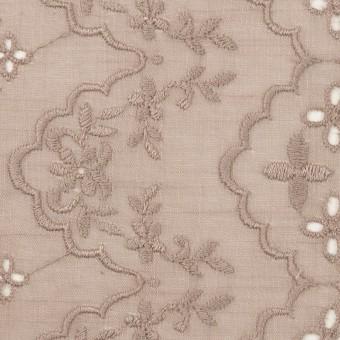 コットン×フラワー(アンティークローズ)×スラブボイル刺繍_全2色