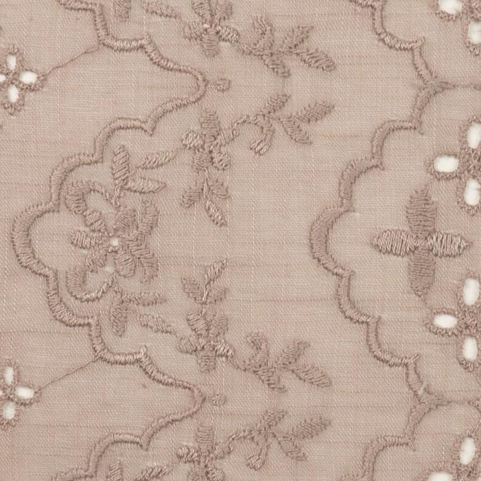 コットン×フラワー(アンティークローズ)×スラブボイル刺繍_全2色 イメージ1