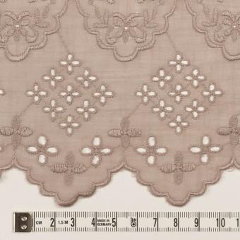コットン×フラワー(アンティークローズ)×スラブボイル刺繍_全2色 サムネイル6