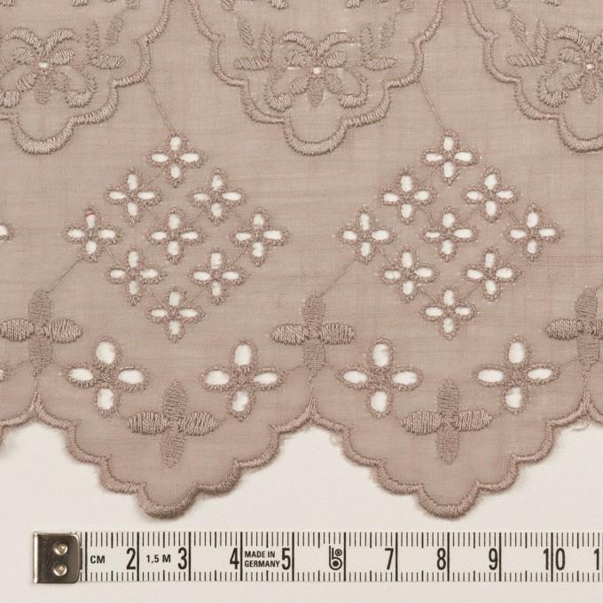コットン×フラワー(アンティークローズ)×スラブボイル刺繍_全2色 イメージ6