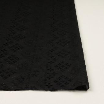 コットン×フラワー(ブラック)×スラブボイル刺繍_全2色 サムネイル3