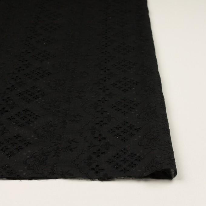 コットン×フラワー(ブラック)×スラブボイル刺繍_全2色 イメージ3