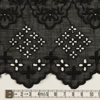 コットン×フラワー(ブラック)×スラブボイル刺繍_全2色 サムネイル6