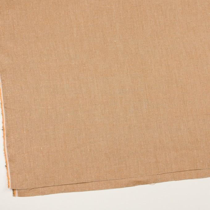 リネン&レーヨン混×ミックス(オレンジゴールド)×かわり織_全3色 イメージ2