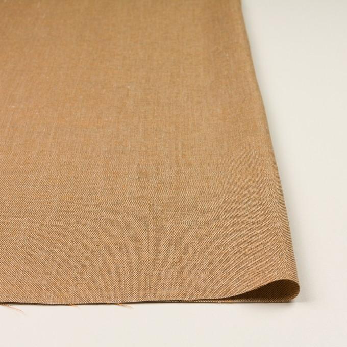 リネン&レーヨン混×ミックス(オレンジゴールド)×かわり織_全3色 イメージ3