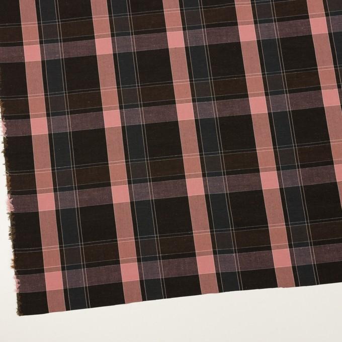 コットン×チェック(チョコレート&グレイッシュピンク)×ブロード イメージ2