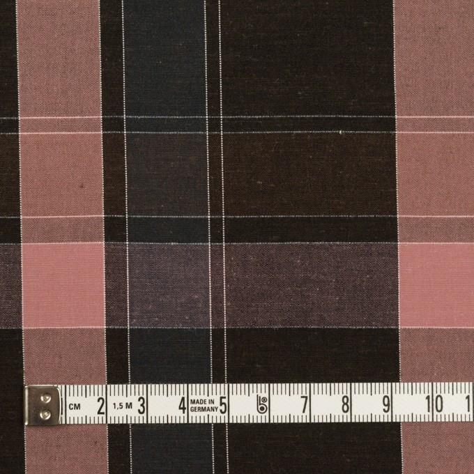 コットン×チェック(チョコレート&グレイッシュピンク)×ブロード イメージ4