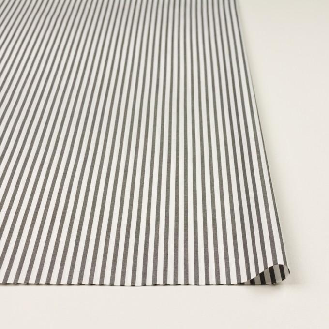 コットン&ポリエステル混×ストライプ(チャコール)×ブロードストレッチ イメージ3