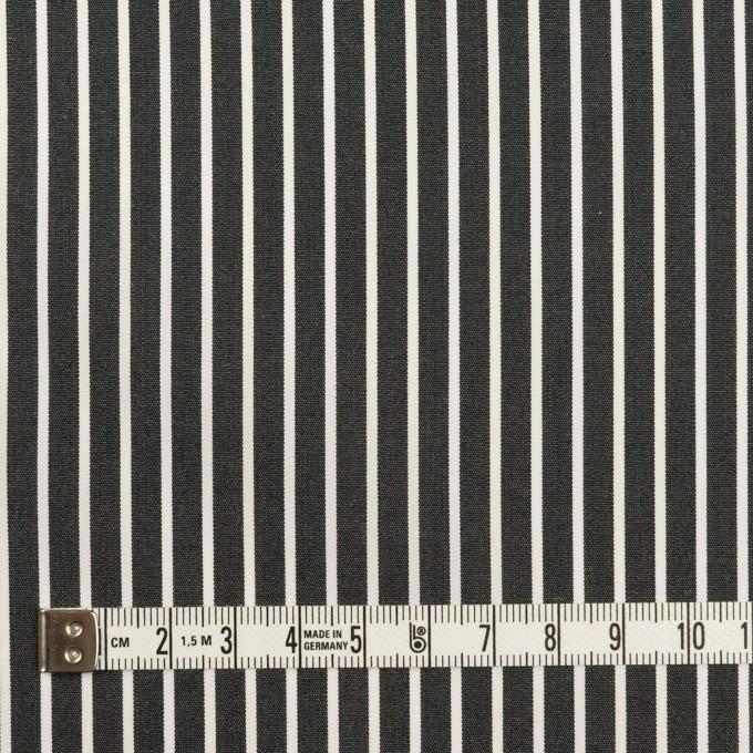 コットン×ストライプ(チャコール)×ブロード イメージ4