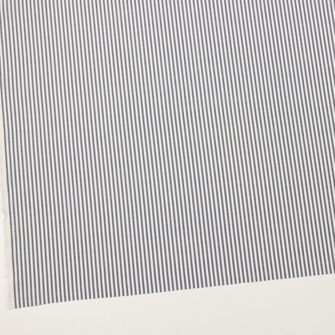 コットン&シルク×ストライプ(アッシュネイビー)×ローン イメージ2