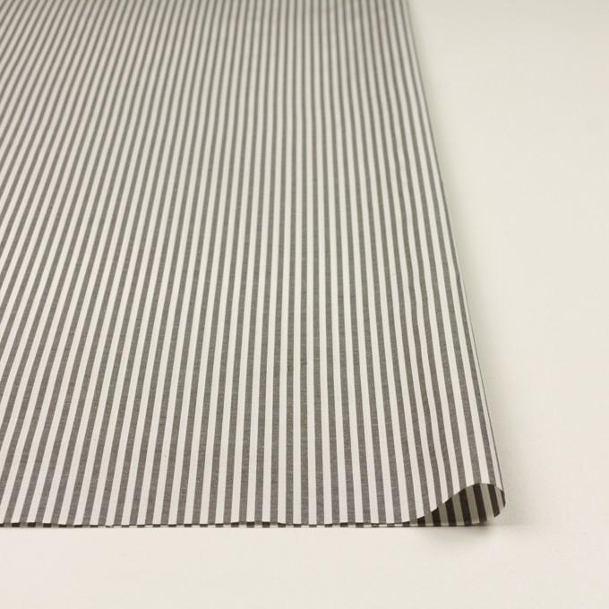 コットン&シルク×ストライプ(チャコール&アイボリー)×ブロード イメージ3