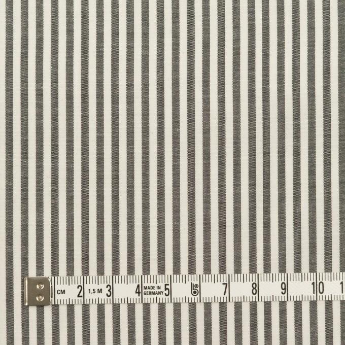 コットン&シルク×ストライプ(チャコール&アイボリー)×ブロード イメージ4