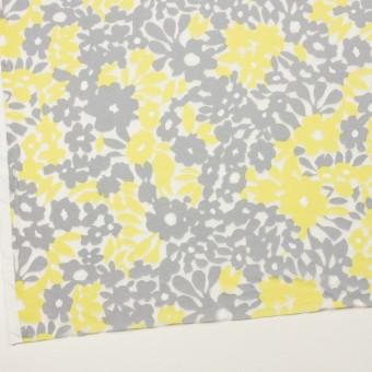コットン&ポリエステル×フラワー(レモン&グレー)×オパールニット_全2色 サムネイル2