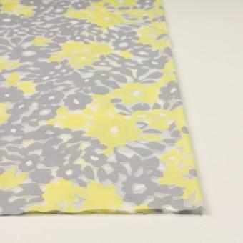 コットン&ポリエステル×フラワー(レモン&グレー)×オパールニット_全2色 サムネイル3