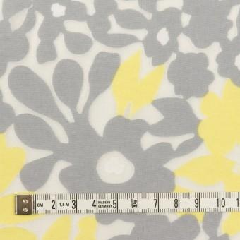 コットン&ポリエステル×フラワー(レモン&グレー)×オパールニット_全2色 サムネイル4