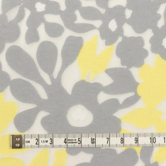 コットン&ポリエステル×フラワー(レモン&グレー)×オパールニット_全2色 イメージ4