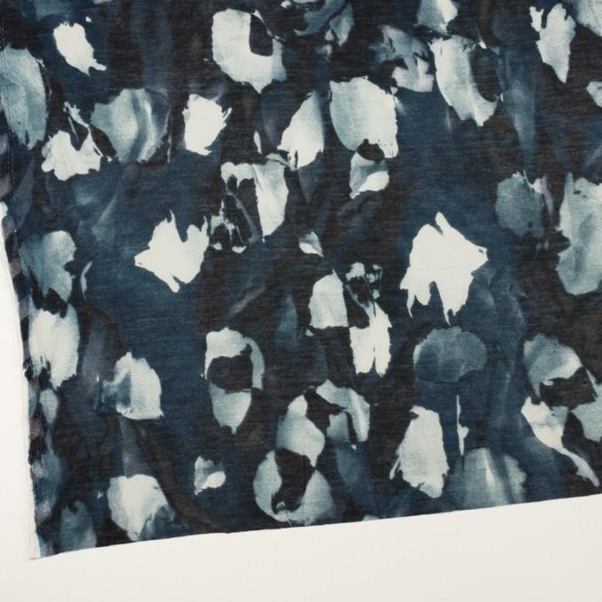 コットン&レーヨン×ペイント(ブルーグレー)×天竺ニット イメージ2