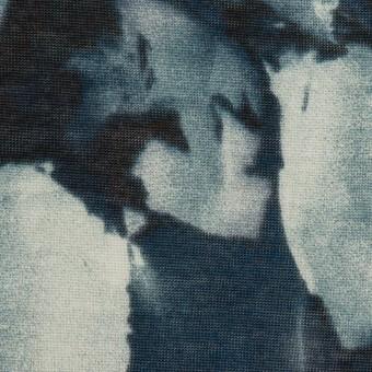 コットン&レーヨン×ペイント(ブルーグレー)×天竺ニット サムネイル1