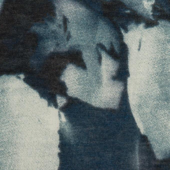 コットン&レーヨン×ペイント(ブルーグレー)×天竺ニット イメージ1