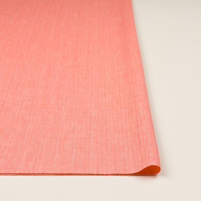 レーヨン&コットン混×無地(ピーチ)×かわり織ストレッチ イメージ3