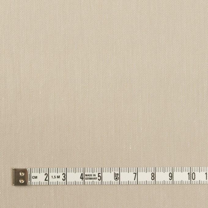 テンセル&ナイロン混×無地(グレイッシュベージュ)×ヘリンボーン・ストレッチ イメージ4