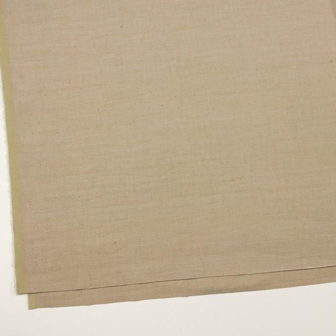 リネン&ナイロン混×無地(カーキベージュ)×サージストレッチ イメージ2