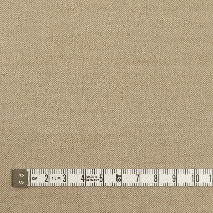 リネン&ナイロン混×無地(カーキベージュ)×サージストレッチ イメージ4