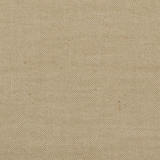 リネン&ナイロン混×無地(カーキベージュ)×サージストレッチ イメージ1