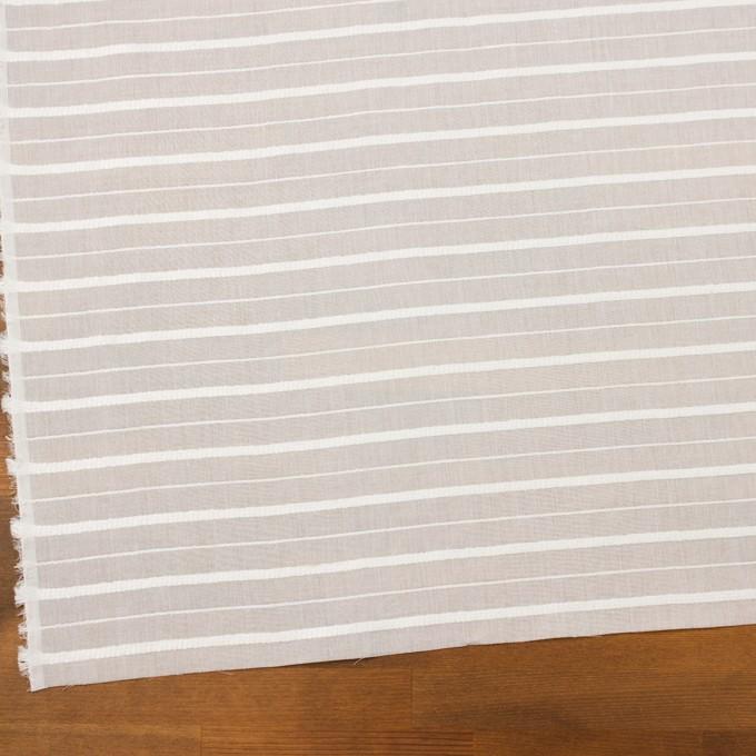 コットン&レーヨン×ボーダー(オフホワイト)×ボイルジャガード イメージ2